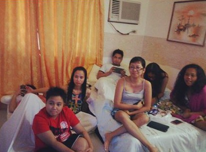 While watching UAAP CDC '14